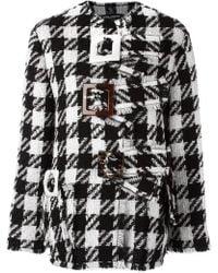 Dolce & Gabbana | Checked Boxy Coat | Lyst