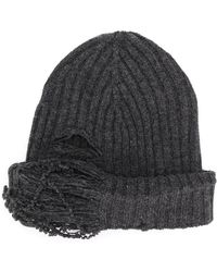 Maison Margiela - Distressed Rib Knit Beanie - Lyst