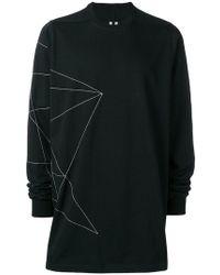 Rick Owens - Sweatshirt mit geometrischem Print - Lyst