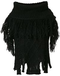 Philosophy Di Lorenzo Serafini | Fringed Knit Cape | Lyst