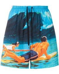 N°21 - Surf print deck shorts - Lyst