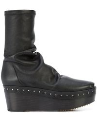 Rick Owens - Sabot Sock Boots - Lyst