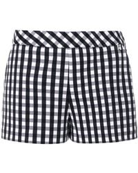 Twin Set - Checked Fitted Shorts - Lyst