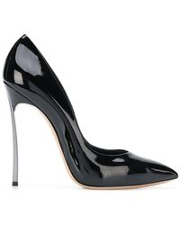 Casadei - Varnished Pointed Pumps - Lyst