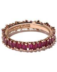 Suzanne Kalan - 18kt Rose Gold And Ruby Classic Fireworks Eternity Band - Lyst