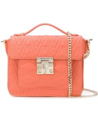 Versace Jeans - Logo Quilted Tote - Lyst
