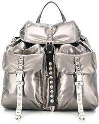 Prada - Stud Detail Coated Backpack - Lyst