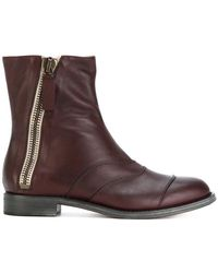 Chloé - Zipped Creased Boots - Lyst