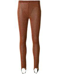 A.F.Vandevorst - Glitter Effect Leggings With Foot Strap - Lyst