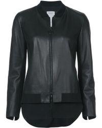 Akris Punto - Leather Bomber Jacket - Lyst