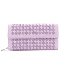 Bottega Veneta - Parme Lilac Intrecciato Palio Continental Wallet - Lyst