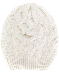Cruciani - Chunky Cable Knit Beanie - Lyst