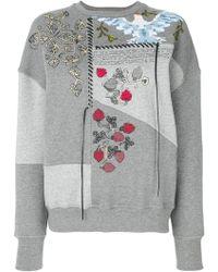 Alexander McQueen - Embroidered Patchwork Sweatshirt - Lyst