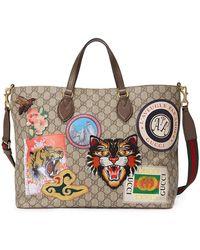 bffa286a24b Gucci Soft Signature Top Handle Bag in Red - Lyst