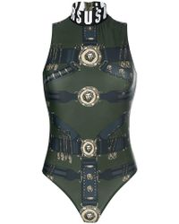 Versus - Heritage Belt Print Bodysuit - Lyst