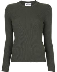 Moschino | Ribbed Sweater With Tulle Inset | Lyst