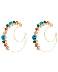 DANNIJO - Gold Pillar Double Hoop Earrings - Lyst