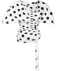 Jacquemus - Le Vallauris Fronce Polka Dot Ruched Top - Lyst