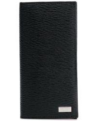 Ferragamo - Textured Foldover Wallet - Lyst