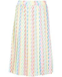 Ultrachic - Straw Print Midi Skirt - Lyst