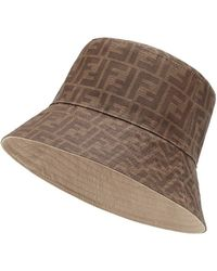 62c56535 Fendi - Reversible Bucket Hat - Lyst