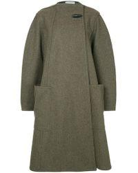Lemaire - Off-centre Button Coat - Lyst