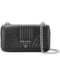 Prada - Quilted Logo Shoulder Bag - Lyst