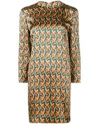 L'Autre Chose - Patterned Shirt Dress - Lyst