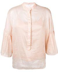 Genny - Ruffle Sleeve Blouse - Lyst