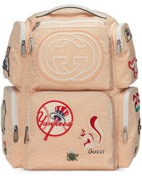 77045f834b74 Gucci - Large Backpack With Ny Yankeestm Patches - Lyst
