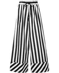 G.v.g.v - Striped Drawstring Waist Flared Trousers - Lyst
