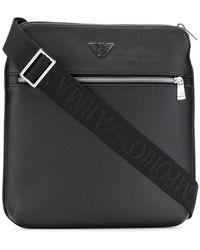 Emporio Armani - Logo Plaque Messenger Bag - Lyst