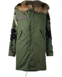 Night Market - Fox Fur Lined Parka - Lyst