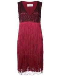 Prabal Gurung - V-neck Fringe Dress - Lyst