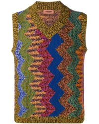 Missoni - Chevron Knitted Vest - Lyst