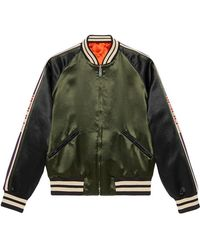 Gucci - Reversible Bomber Jacket With Printed Sleeves - Lyst