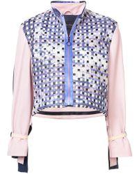 Martina Spetlova - Woven Colour-block Jacket - Lyst
