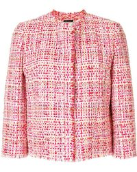 Alexander McQueen | Cropped Tweed Jacket | Lyst