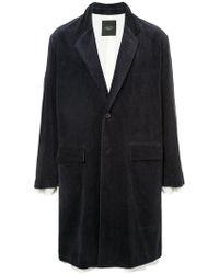 Unused - Corduroy Overcoat - Lyst