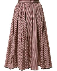 TOME | Flared Stripe Skirt | Lyst