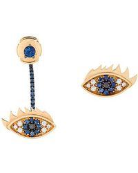 Delfina Delettrez - 'eyes On Me' Diamond And Sapphire Earrings - Lyst