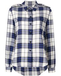 Burberry - Checked Buttoned Shirt - Lyst