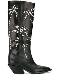 A.F.Vandevorst - Palm Embroidered Knee-high Boots - Lyst