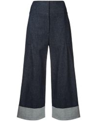 Carolina Herrera - Cropped Wide Trousers - Lyst