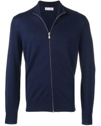 Brunello Cucinelli - Front Zip Sweater - Lyst