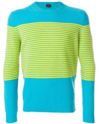 Mp Massimo Piombo | Stripe Detail Sweater | Lyst