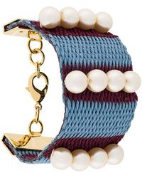 Marni - Woven Pearl Cuff Bracelet - Lyst