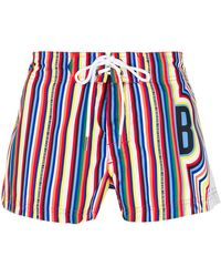 Dirk Bikkembergs - Striped Swim Shorts - Lyst