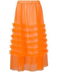 P.A.R.O.S.H. - Long Ruffle Skirt - Lyst