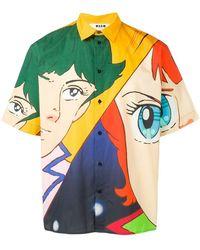 MSGM - Anime Print Shortsleeved Shirt - Lyst
